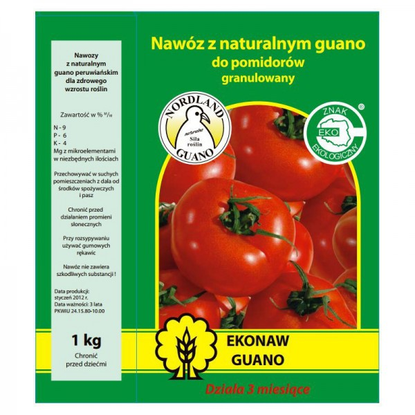 Trąšos pomidorams GUANO 1 kg.